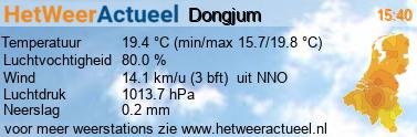 het weer in Dongjum