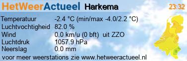 het weer in Harkema