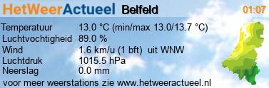 het weer in Belfeld