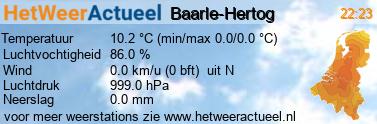 het weer in Baarle-Hertog
