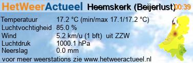 het weer in Heemskerk (Beijerlust)