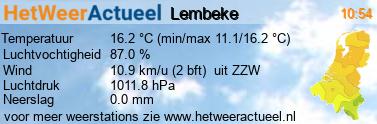 het weer in Lembeke