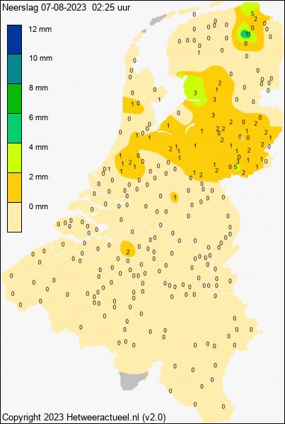 Actuele neerslag-kaart